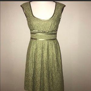 Nanette Lepore Spring Green Lace Dress Sz 2